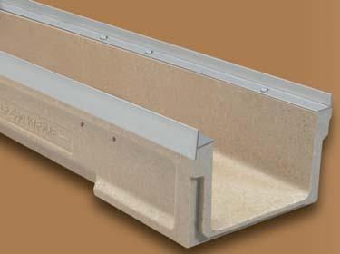 canaleta de hormigon polimero con kit de montaje